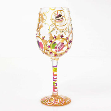 Queen for a Day Wine Glass by Lolita®