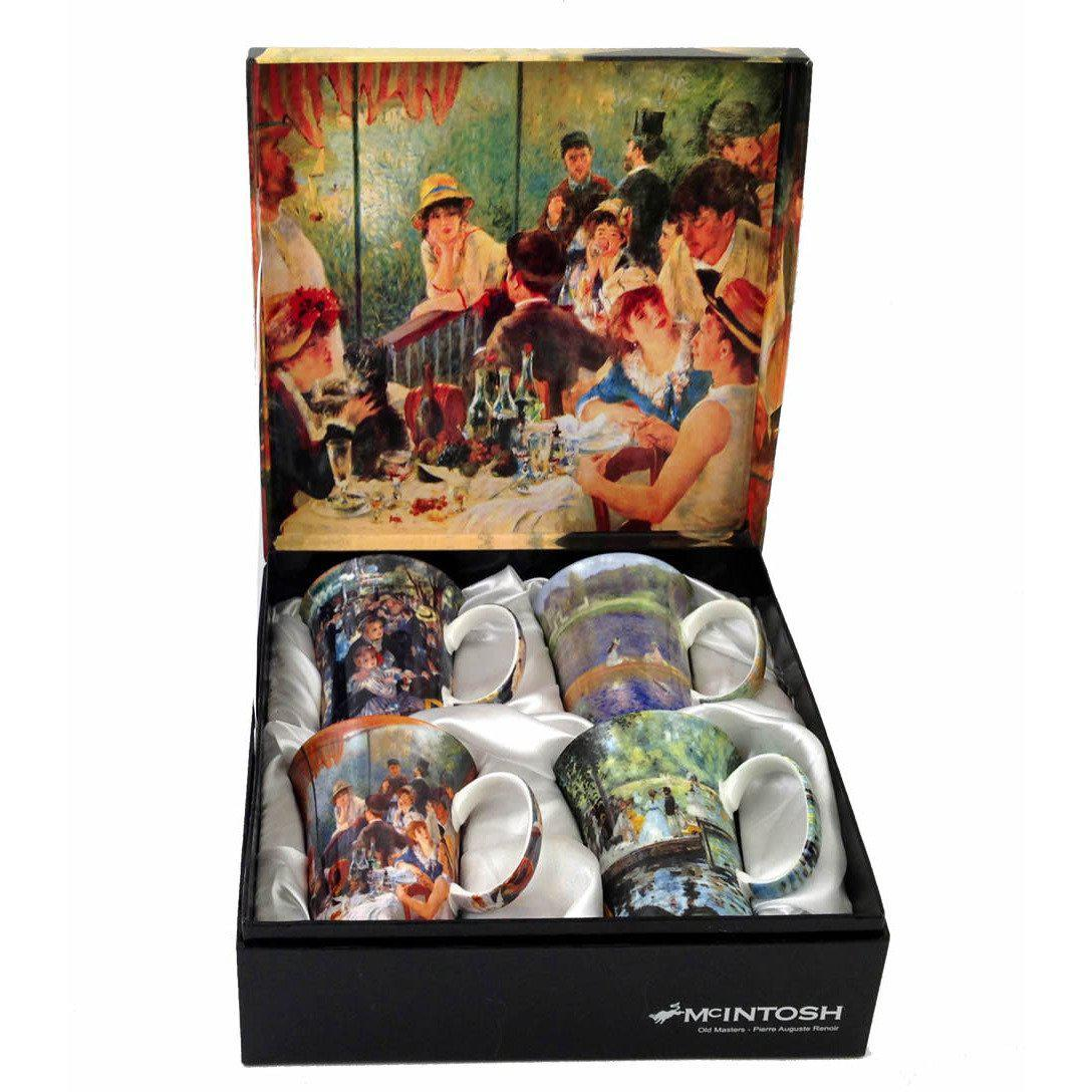 Renoir Set of 4 Bone China Mugs-Mug-McIntosh Trading-Top Notch Gift Shop