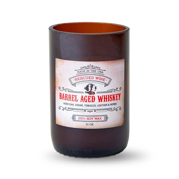 Barrel Aged Whiskey Scented Long Burn Soy Candle-Candle-Rescued Wine-Top Notch Gift Shop