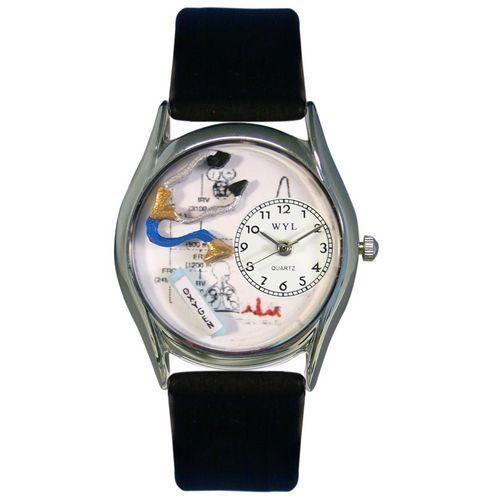 Respiratory Therapist Watch Small Silver Style-Watch-Whimsical Gifts-Top Notch Gift Shop