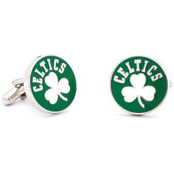 Retro Boston Celtics Enamel Cufflinks