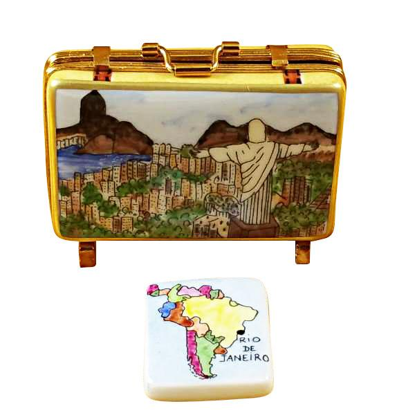 Rio Suitcase Limoges Box by Rochard-Limoges Box-Rochard-Top Notch Gift Shop