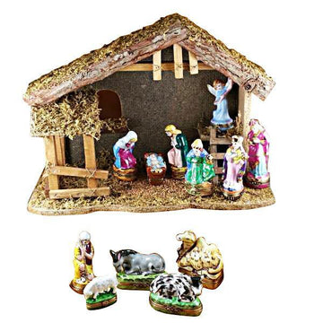 12 Piece Nativity Set Limoges Box by Rochard™