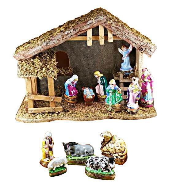 11 Piece Nativity Set Limoges Box by Rochard™-Rochard-Top Notch Gift Shop