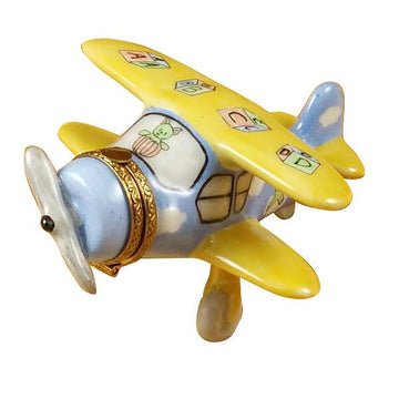 Airplane Baby Decor Limoges Box  by Rochard