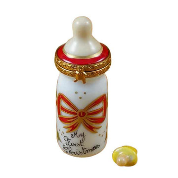 Baby Bottle - My First Christmas Limoges Box  by Rochard