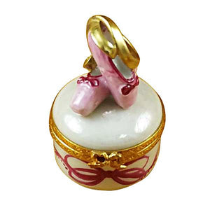 Ballet Shoes On Round Limoges Box by Rochard™-Limoges Box-Rochard-Top Notch Gift Shop