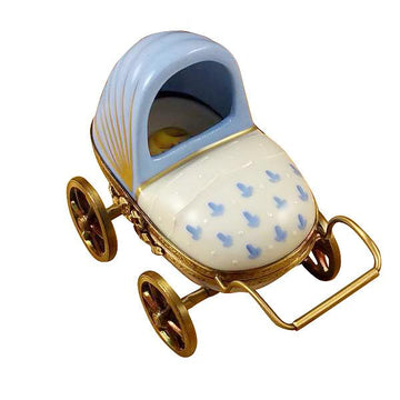 Blue Baby Carriage Limoges Box by Rochard™