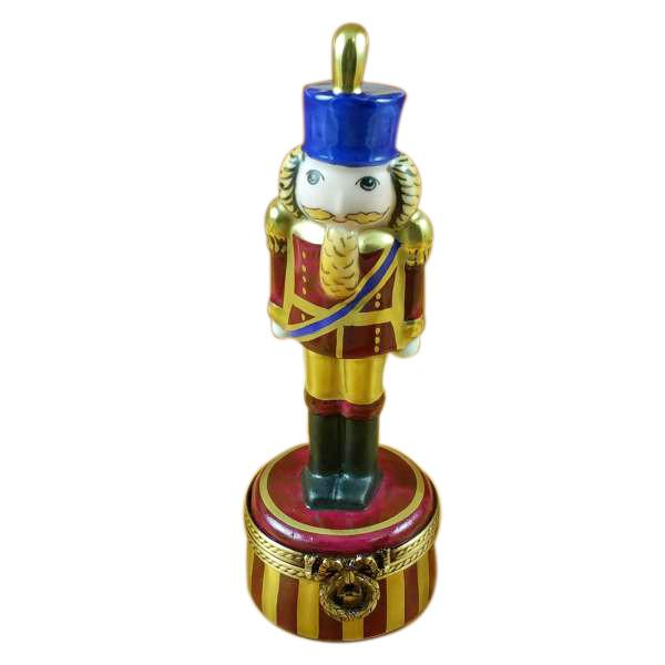 Burgundy Nutcracker Limoges Box by Rochard™-Rochard-Top Notch Gift Shop