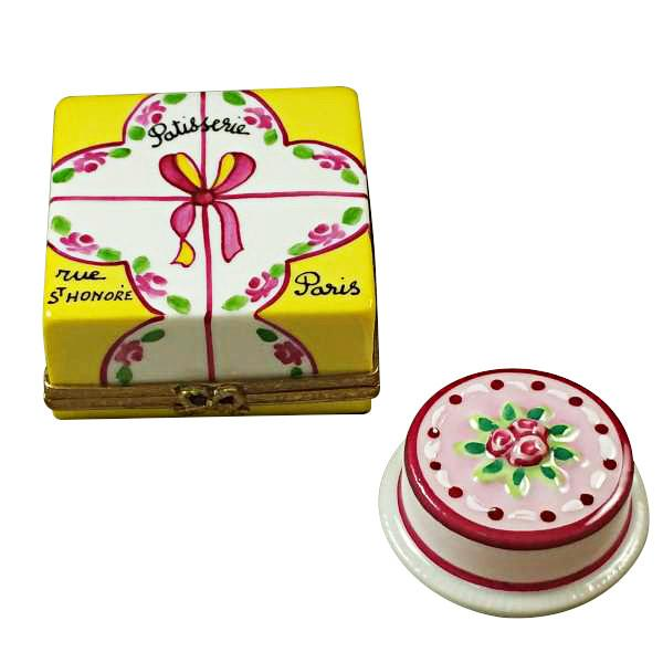 Cake Box with Cake Limoges Box by Rochard™-Limoges Box-Rochard-Top Notch Gift Shop