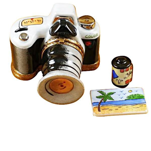 Camera with Film & Photo Limoges Box by Rochard™-Limoges Box-Rochard-Top Notch Gift Shop