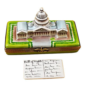 Capital Dome With Removable Bill Of Rights Limoges Box by Rochard™-Limoges Box-Rochard-Top Notch Gift Shop