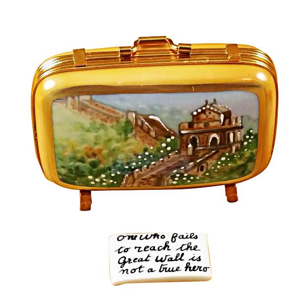 China Suitcase Limoges Box by Rochard-Limoges Box-Rochard-Top Notch Gift Shop