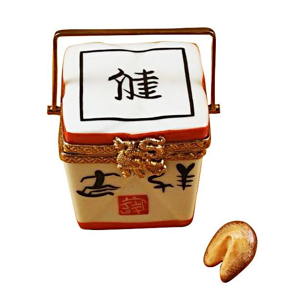 Chinese Take Out with Calligraphy Limoges Box by Rochard™-Limoges Box-Rochard-Top Notch Gift Shop