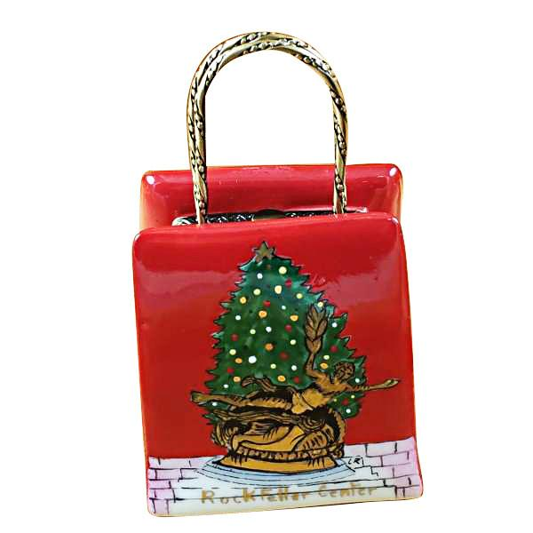 Christmas Shopping Bag Limoges Box by Rochard™-Limoges Box-Rochard-Top Notch Gift Shop