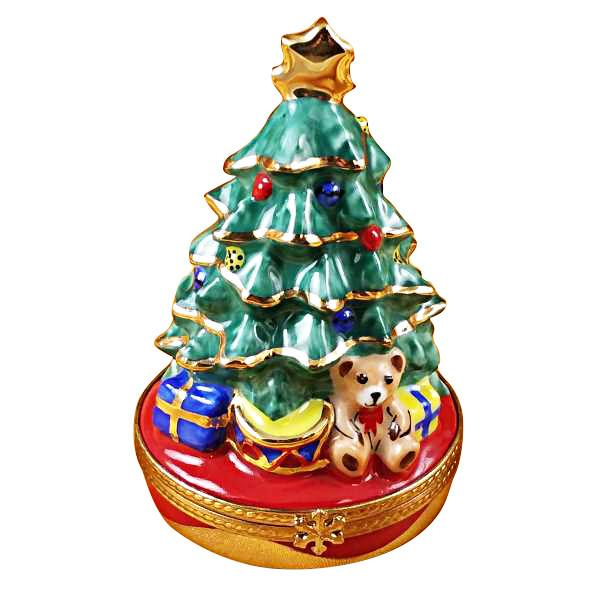 Christmas Tree with Gifts Limoges Box by Rochard™-Rochard-Top Notch Gift Shop
