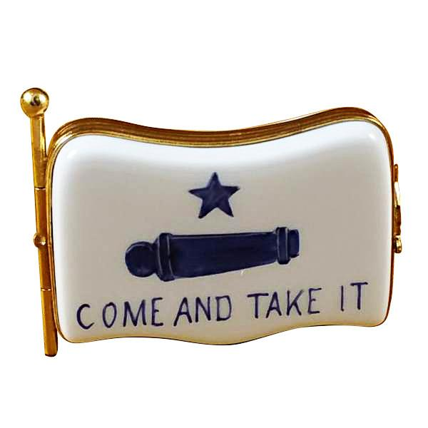 Come And Take It Flag Limoges Box by Rochard-Limoges Box-Rochard-Top Notch Gift Shop