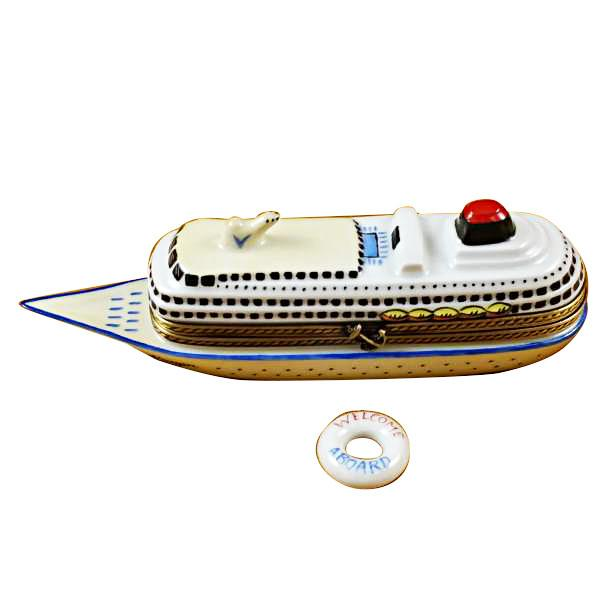 Cruise Ship With Lifebuoy Limoges Box by Rochard™-Limoges Box-Rochard-Top Notch Gift Shop