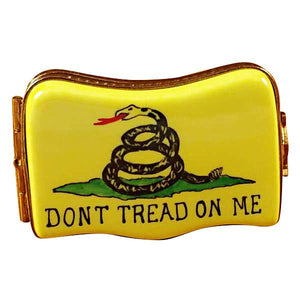 Don't Tread On Me Flag Limoges Box by Rochard™-Limoges Box-Rochard-Top Notch Gift Shop