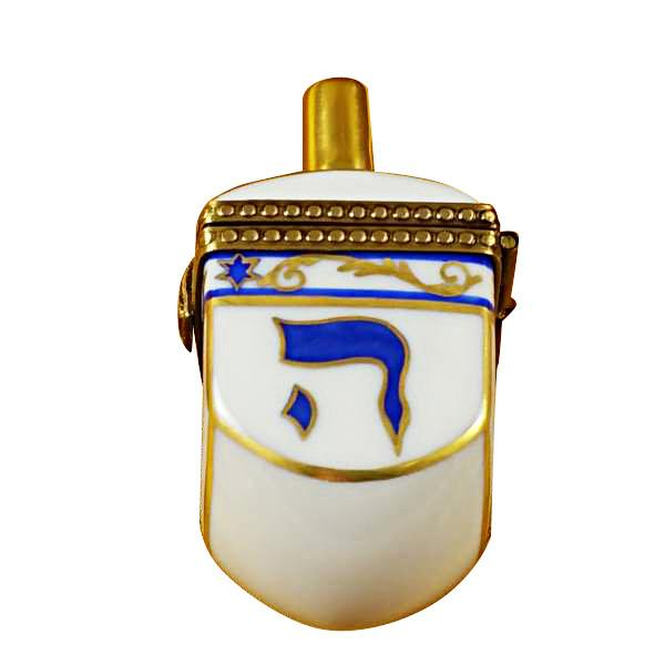 Dreidel - White Limoges Box by Rochard-Limoges Box-Rochard-Top Notch Gift Shop