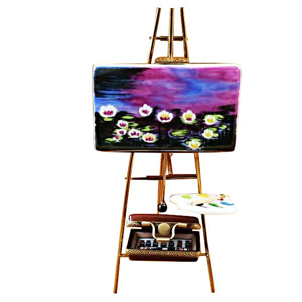 Easel Monet - Water Lilies Limoges Box by Rochard™-Rochard-Top Notch Gift Shop