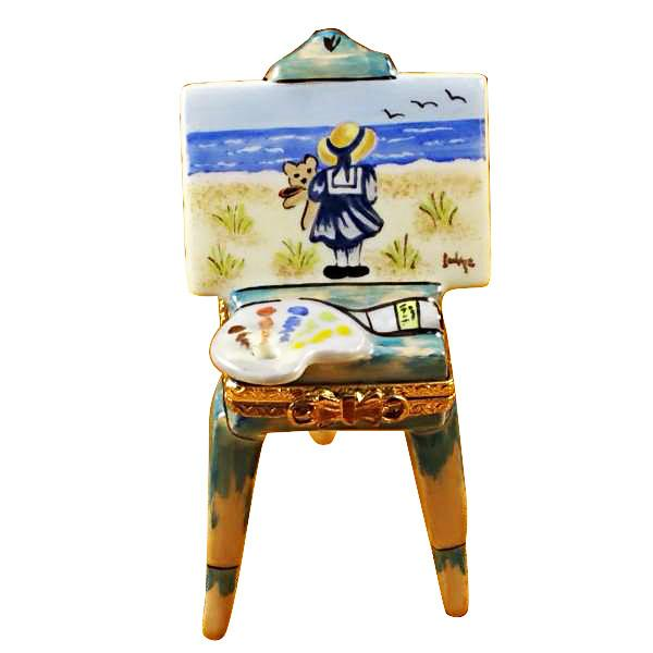 Easel with Girl & Seashore Limoges Box by Rochard™-Limoges Box-Rochard-Top Notch Gift Shop