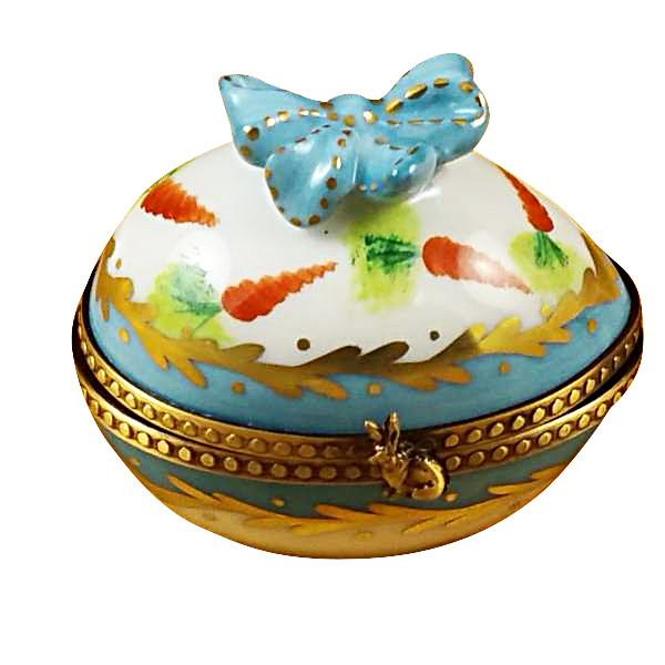 Egg with Bow & Bunny Limoges Box by Rochard™-Rochard-Top Notch Gift Shop