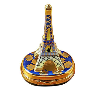 Eiffel Tower Gold On Blue Base Limoges Box by Rochard™-Limoges Box-Rochard-Top Notch Gift Shop
