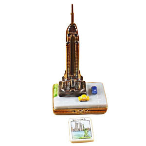 Empire State Bldg with Cars Limoges Box by Rochard™-Limoges Box-Rochard-Top Notch Gift Shop