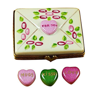 Envelope - For You with 3 Hearts Limoges Box by Rochard™-Limoges Box-Rochard-Top Notch Gift Shop