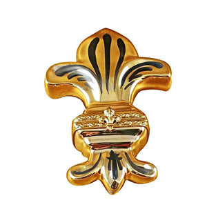 Fleur De Lys - Gold Limoges Box by Rochard™-Limoges Box-Rochard-Top Notch Gift Shop