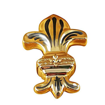Fleur De Lys - Gold Limoges Box  by Rochard