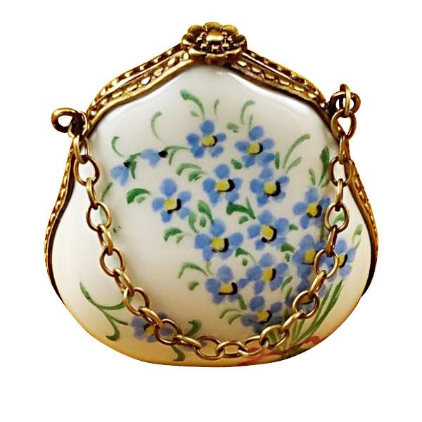 Forget Me Not Handbag Limoges Box by Rochard™-Limoges Box-Rochard-Top Notch Gift Shop