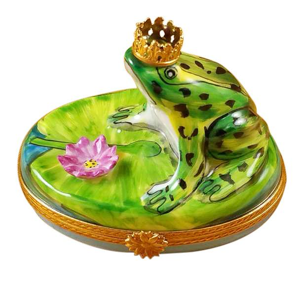 Frog with Crown Limoges Box by Rochard™-Rochard-Top Notch Gift Shop