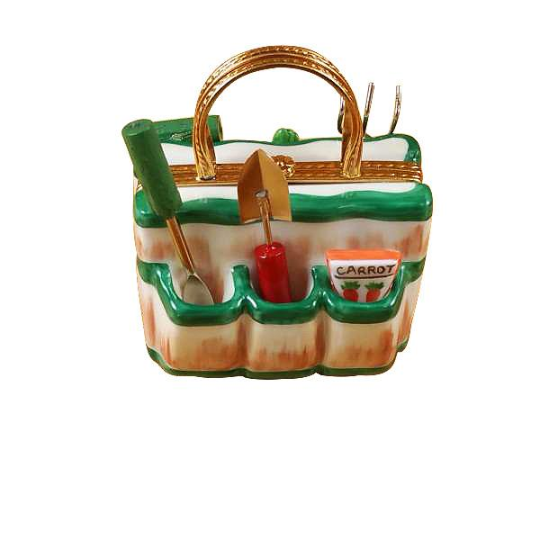 Garden Bag with Tools Limoges Box by Rochard-Limoges Box-Rochard-Top Notch Gift Shop