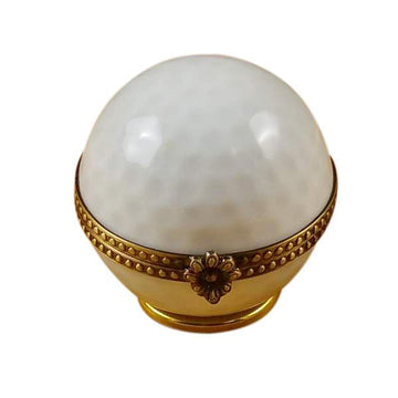 Golf Ball Limoges Box  by Rochard