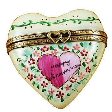 Heart - Happy Anniversary Limoges Box by Rochard™