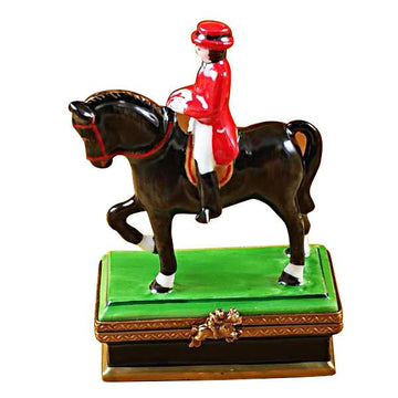 Horse With Rider - Dressage Limoges Box  by Rochard