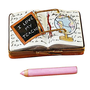 I Love My Teacher Book Limoges Box by Rochard™-Limoges Box-Rochard-Top Notch Gift Shop