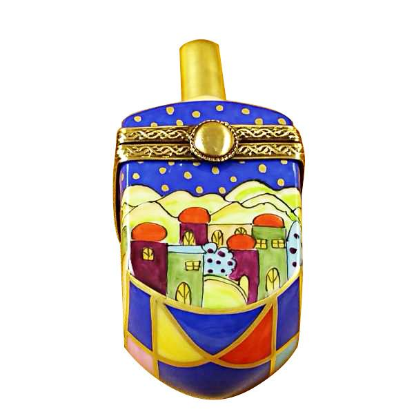 Jerusalem Scene Dreidel Limoges Box by Rochard™-Limoges Box-Rochard-Top Notch Gift Shop