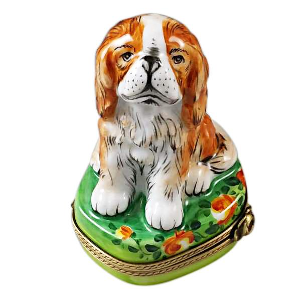 King Charles Spaniel Limoges Box by Rochard™-Rochard-Top Notch Gift Shop