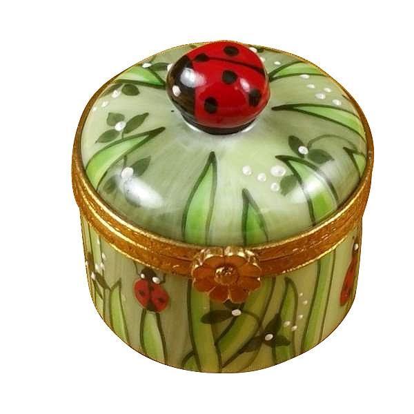 Lady Bug In Grass Limoges Box by Rochard-Limoges Box-Rochard-Top Notch Gift Shop