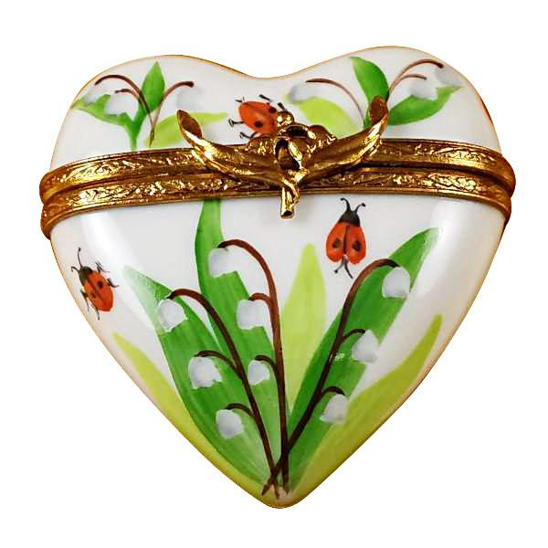 Lily Of The Valley Heart Limoges Box by Rochard-Limoges Box-Rochard-Top Notch Gift Shop