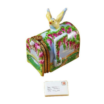 MailBox by Rochard™ Wisteria Yellow Bird Limoges Box by Rochard™