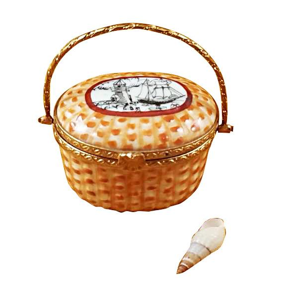 Nantucket Basket Lighthouse Limoges Box by Rochard™-Limoges Box-Rochard-Top Notch Gift Shop
