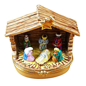 Nativity Stable Limoges Box by Rochard™-Limoges Box-Rochard-Top Notch Gift Shop