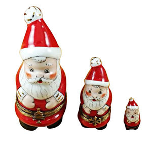 Nest Santa with Ball On Cap Limoges Box by Rochard™-Limoges Box-Rochard-Top Notch Gift Shop