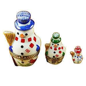 Nesting Snowman Set Limoges Box by Rochard™-Limoges Box-Rochard-Top Notch Gift Shop