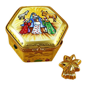 Octagon Nativity with Star Limoges Box by Rochard™-Limoges Box-Rochard-Top Notch Gift Shop