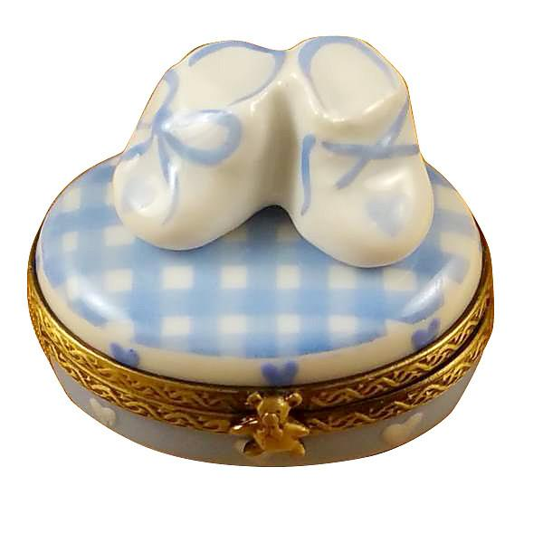 Oval - It'S A Boy with Shoes Limoges Box by Rochard™-Limoges Box-Rochard-Top Notch Gift Shop